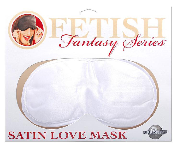 Mascara del Amor Antifaz Sexi de Saten Blanco