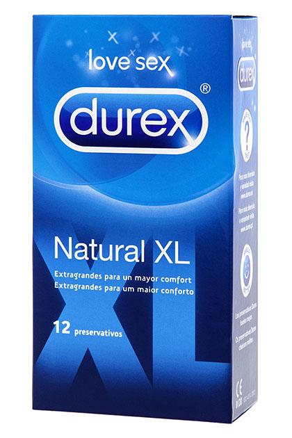 Condones Durex Natural XL 12 uds